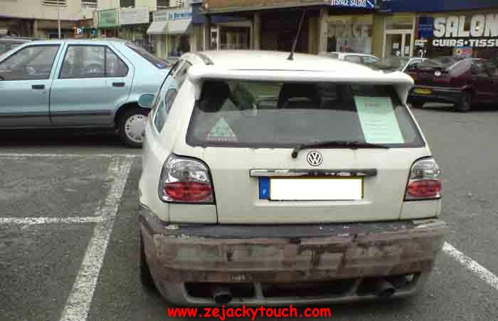Golf 3 blanche Jacky tuning 2