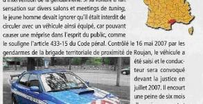 Il peint sa Subaru aux couleurs de la police