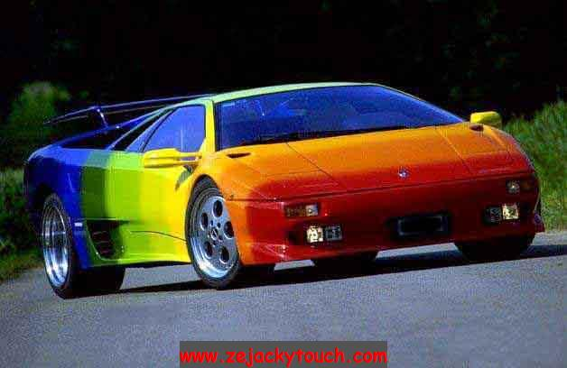Lamborghini arc en ciel jacky tuning