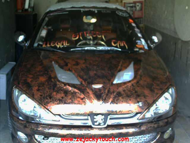 peugeot 206 peinture vomi touch jacky tuning 2