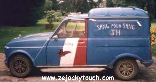 Renault 4L de jacky fan de Johnny hallyday
