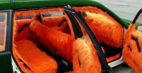 Jacky touch interieur en poil orange