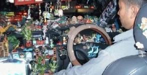 interieur taxi pakistanais